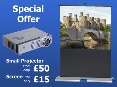 Special Offer Projector £50 and Screen only £15